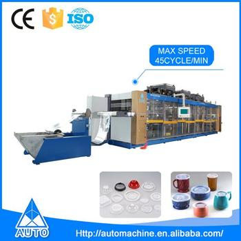 High speed disposable plastic thermoforming making machine