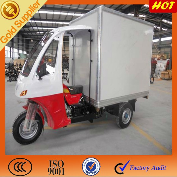 175cc three wheeler ice closed ice cabin box