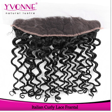 Top quality curly virgin brazilian lace frontal hair pieces