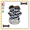 black Louis checkerboard rain hat dog coat