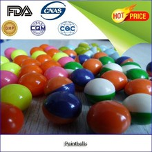 Hot products which is 0.68 caliber painballs , colorful / round / peg or oil fill / bright shell paintballs