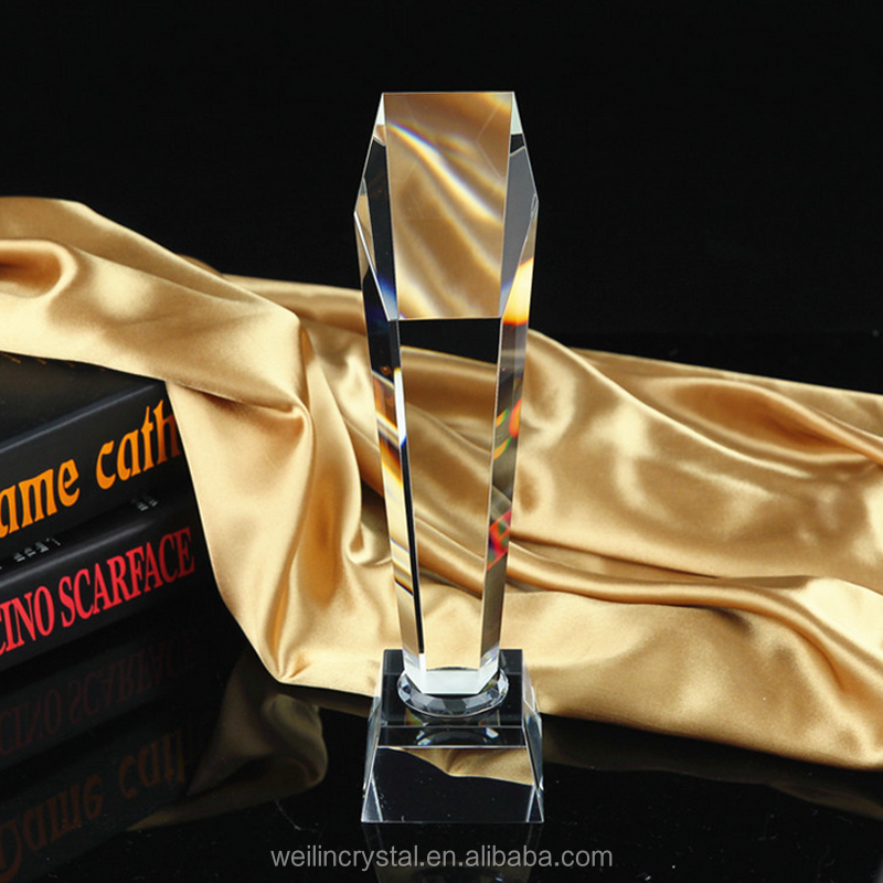 Factory sale good quality cheap price crystal trophy awards
