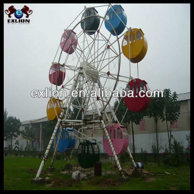 Portable Mini Ferris wheel/ferris wheel rides with trailer children games