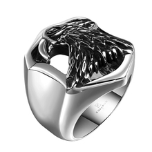Eagle Head Design Polished Wholesale 316 Stainless Steel Masonic Ring