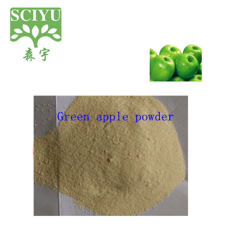 Pass Korea KFDA Test Green Apple Powder and Green Apple Extract Powder Polyphenols10-80%