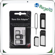 Universal 4 In 1 Nano SIM Adapter Nano to Micro & Standard Sim Card Adaptor Kit for iPhone for Samsung