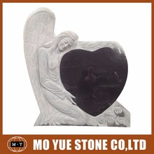 New products angel heart headstone monument tombstone