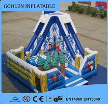 inflatable Christmas theme slide for sale/ inflatable fun city park