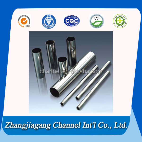 Top selling polished round 316L welded stainless steel pipe