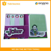 High quality fancy pad sticky notes with cover