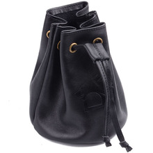 Multi-function Black Genuine Leather Customized Jewelry Bags Pouches