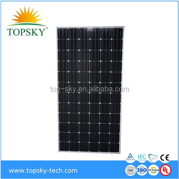 Top brand Good quality 2017 NEW price 270-330W Mono Solar Panel/Module for solar system solar plant roof systetm