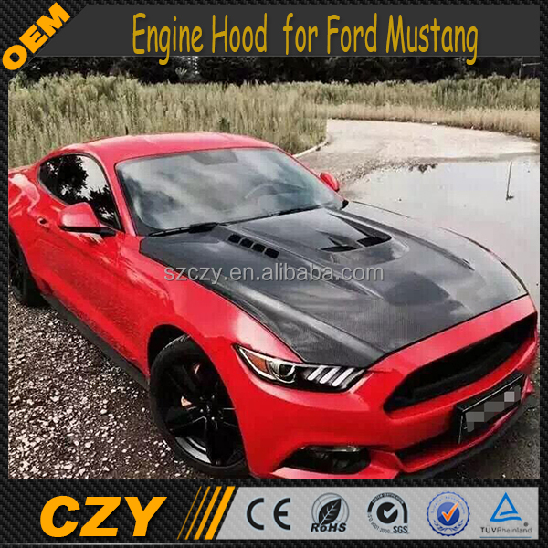 Auto Bodykit Carbon Fiber Mustang Engine Hood for Ford Mustang