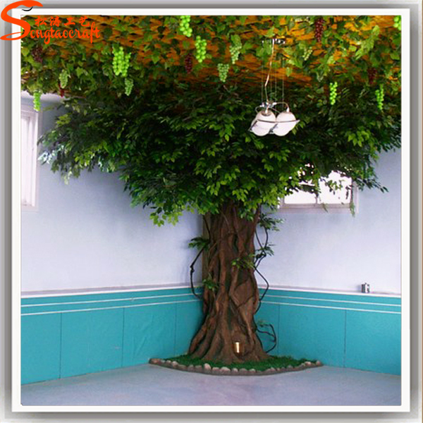 guangzhou baiyun new products fake tree trunk artificial tree wall decor for indoor