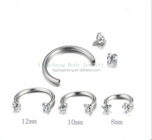 Stainless steel nickel free internally thread septum nose ring from China