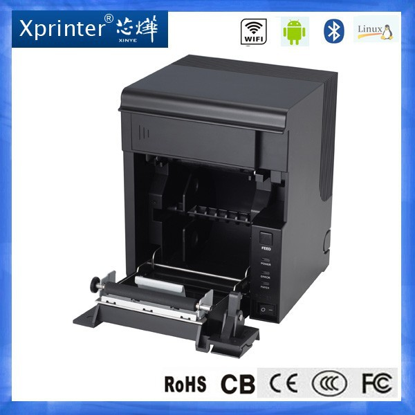 "3"" thermal receipt printer USB Lan Serial SINGLE interface bill document printer receipt printer with auto-cutter"