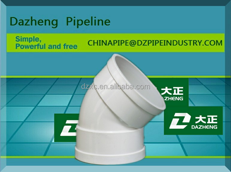 ISO 9001:2015 STANDARD 45 degree elbows pvc pipe fitting Of high quality