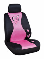 Wholesale Pink heart,pink flower mesh Car Seat Cover for lady