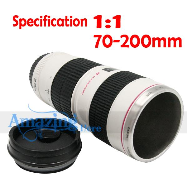 Canon 70-200mm Camera Lens Cup Stainless Steel Mug Gift
