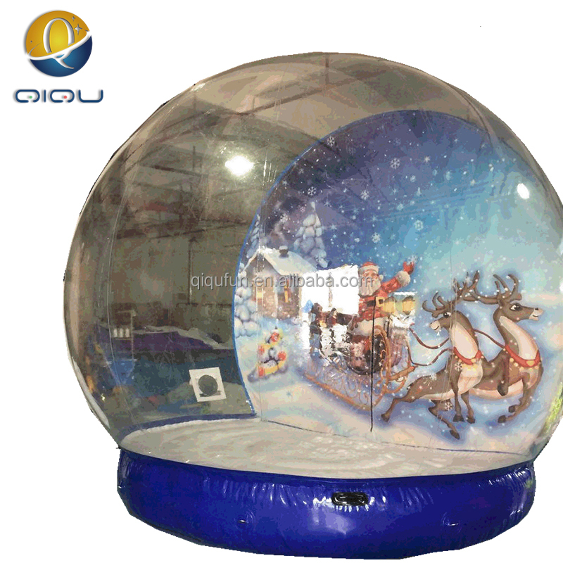 China attractive large life-size snow globe , inflatable snow globe, christmas festival snow ball for taking photos inside