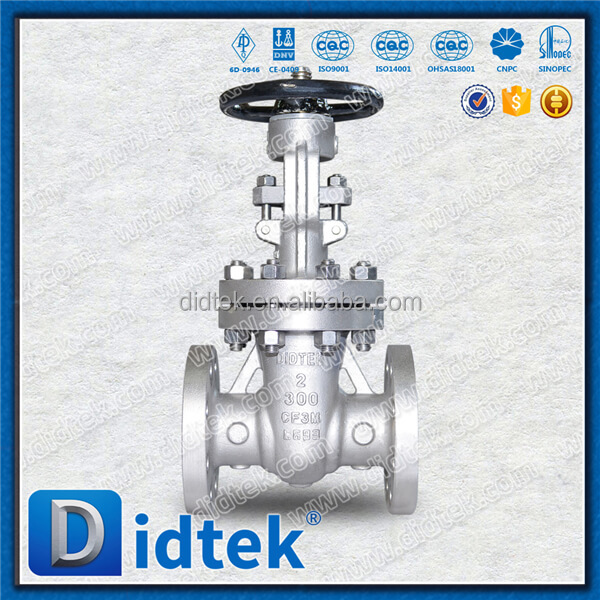 Gate Valve Rising Stem Flange Ends Stainless Steel Gear Operation