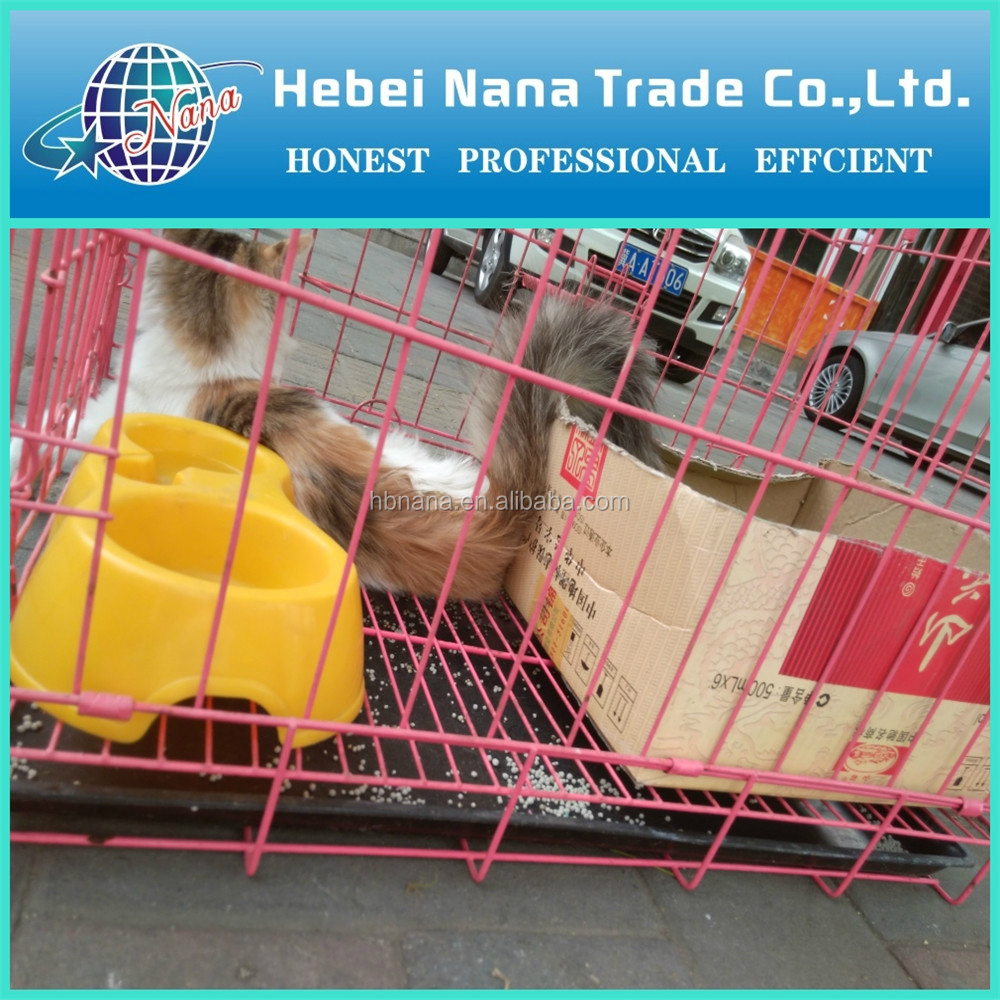 Largest Stainless Steel cat Cage / hot sale folding metal pet cage dog crate