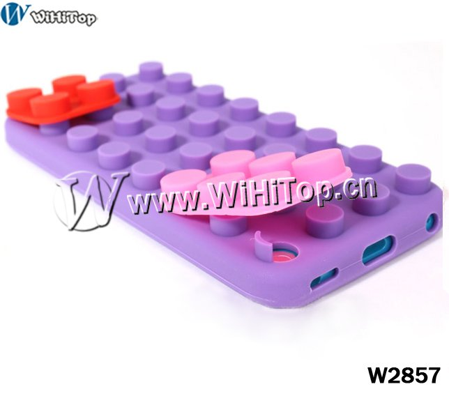 Building Block Winder silicon case for ipod touch 5,silicon case for itouch 5