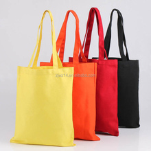 Eco-friendly recycled high quality promotion wholesale manufacturer custom colorful tote 100% cotton canvas bag