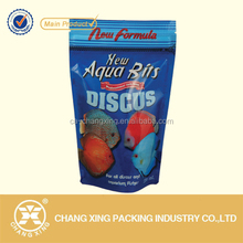 Gravure printing standing pouch with ziplock for fish pet food