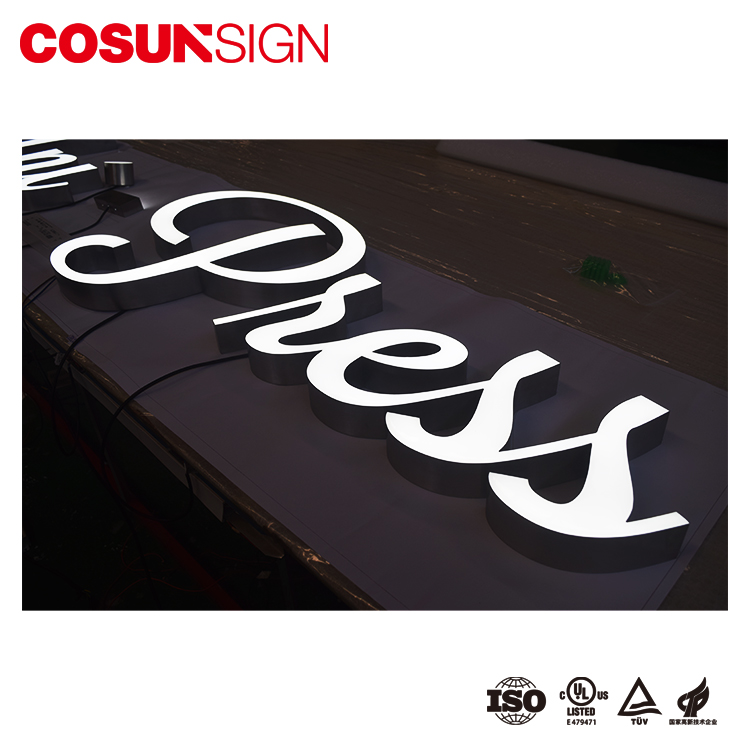 Indoor advertising 3D led epoxy resin letters sign and logo