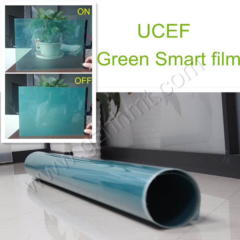 High Quality Black/Blue Electrochromic PDLC privacy film, self adhesive smart glass film ,switchable glass