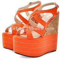 Elegant high heel wedges/2013 new wedges lady sandals shoes