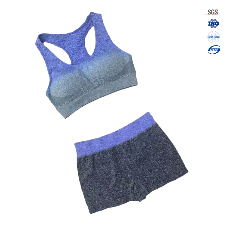 Hot sale ladies sexy comfortable sports bra and panty set