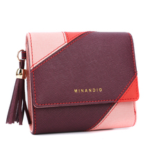 Small female wallet women leather money clip