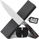 "PROFESSIONAL Pakka Wood Handle 8"" Chef Kitchen Knife & Sharpener set"