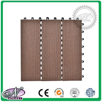 Top quality wood plastic composite interlocking DIY wpc outdoor Floor Tiles