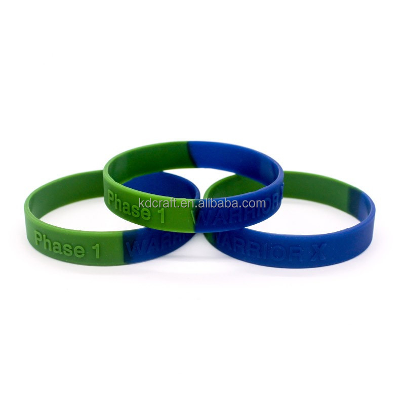 Personalized embossed silicone wristband