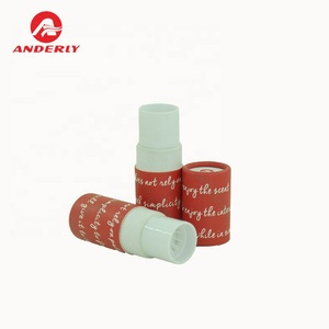 Coated paper eco friendly feature lipstick tube of lip balm packaging in high quality round box