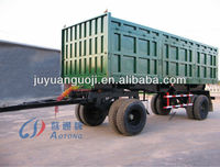 High quality 2 axles full trailer with draw bar and 8 tires for sale