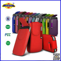 2014 latest New Magnetic PU Leather Pull tab Pouch cover case for iPhone 6