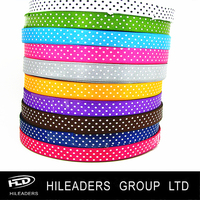 YSR06-10 Wholesale Factory supplier 100% polyester satin ribbon printed dot