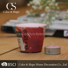 Wholesale traditional red painting porcelain candle holders