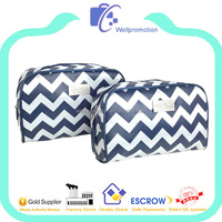 Fashionable chevron tote bag zipper for women