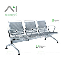Triumph Stainless armchair 3 seater steel chair metal gang chair / airport seating for waiting room chairs