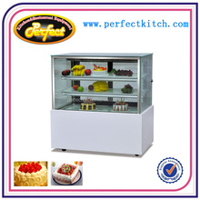 Commercial Luxury Free Standing Double Arc Cake Showcase /Cold sandwich refrigerator