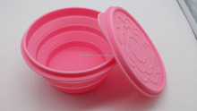 Eco-friendly Personalized Food Grade silicone folding dog bowl