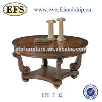 classical antique cheap solid wooden elliptical coffee table