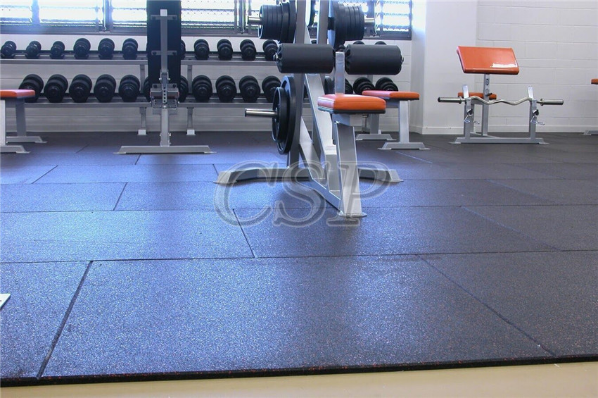 Gym tile flooring