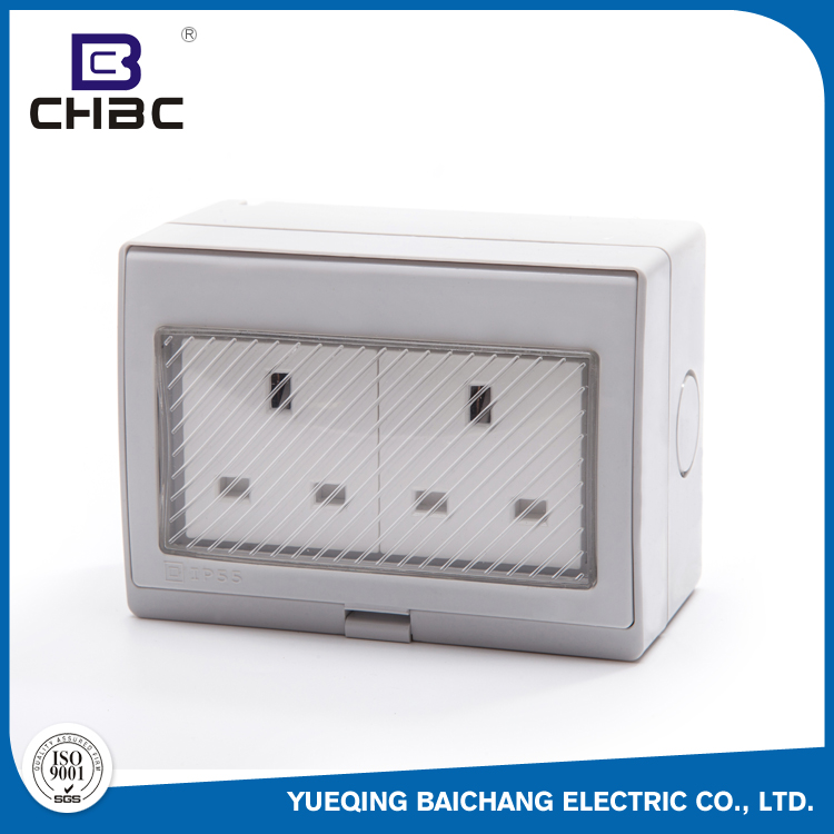 CHBC 118*86*63 Size 13A 250V Electric Waterproof Wall Switch And Socket