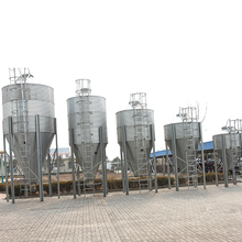 Poultry farm feed silo/ chicken farm structures poultry feed and water equipment for broiler